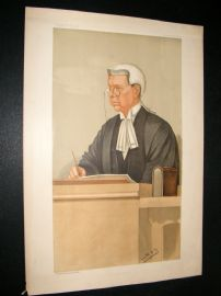 Vanity Fair Print 1897 Sir John Compton Lawrence, Judge